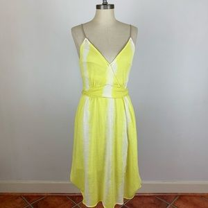 Anthropologie Moth Yellow Terry Cloth Dress